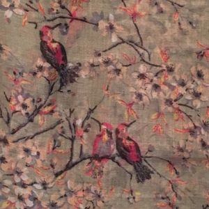 Spring is coming! Floral/Bird Motif Scarf